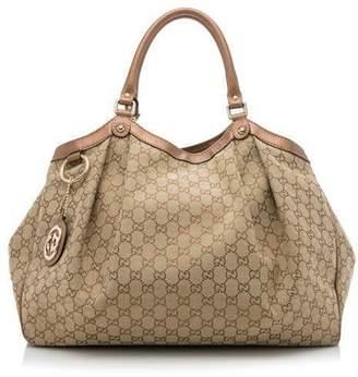 Gucci Sukey Tote GG Large Brown