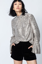 Zadig & Voltaire Tummy Sequins Top