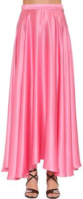 MSGM PM LONG SATIN SKIRT