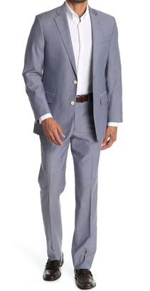 Brooks Brothers Blue Solid Two Button Notch Lapel Regent Fit Suit