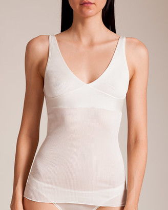Dana Pisarra Parigi Ribbed Silk Fitted Camisole