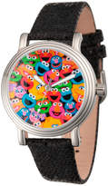 Sesame Street Womens Black Strap Watch-Wss000001