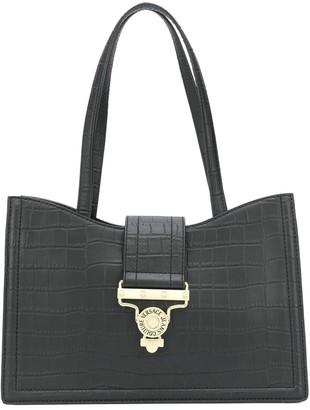 Versace Crocodile Embossed Tote Bag