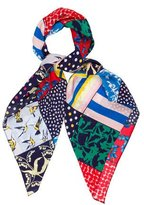 Carolina Herrera Abstract Print Scarf