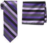 Stacy Adams Men's Microfiber Stripped Tie Set