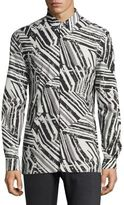 Versace Abstract Frame Casual Button Down Shirt