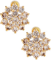 Fragments for Neiman Marcus CZ Flower Stud Earrings, Golden