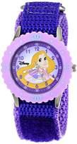 Disney Kids' W000967 Rapunzel Stainless Steel Time Teacher Purple Watch