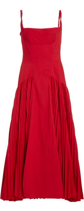 Proenza Schouler Pleated Poplin Maxi Dress