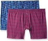 Tommy Bahama Men's Box Plaid 2 Pack Knit Boxer Brief Set