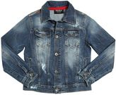 Fred Mello Destroyed Stretch Denim Jacket