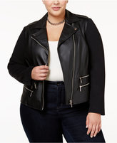 MICHAEL Michael Kors Size Faux-Leather Moto Jacket