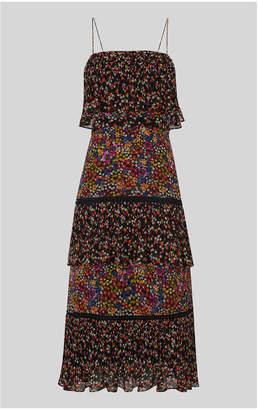 Whistles Peony Print Tiered Dress