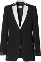 Burberry Natalie Tux Contrast Lapel Wool Jacket