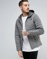 The North Face Thermoball Hooded Jacket In Grey
