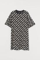 H&M Printed T-shirt Dress - Gray
