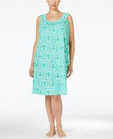 Lauren Ralph Lauren Plus Size Printed Smocked Nightgown