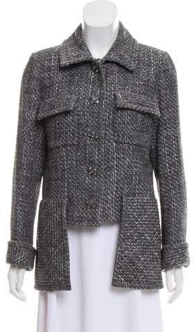 Chanel Tweed High-Low Jacket