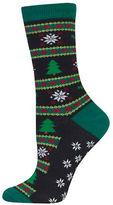 Hot Sox Christmas Tree Fairisle Socks