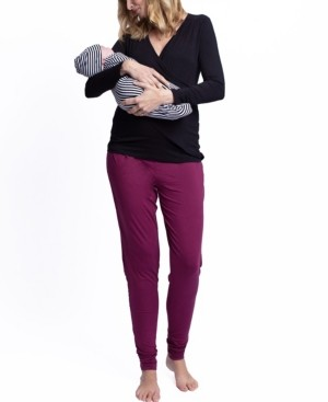Blooming Women by Angel Maternity Lounge Outfit, Baby Pouch and Beanie Set