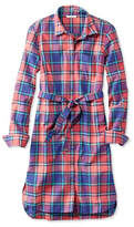 L.L. Bean Signature Madras Button-Front Shirt Dress