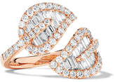 Anita Ko Leaf 18-karat Rose Gold Diamond Ring - 6
