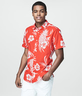 Prince & Fox Pineapple Hibiscus Button Down