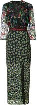 Saloni floral print dress - women - Polyester - 4