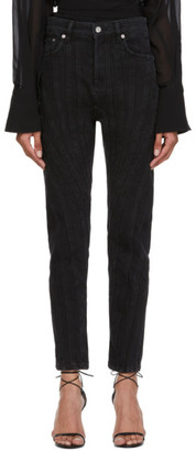 Thierry Mugler Black Girlfriend Twist Jeans