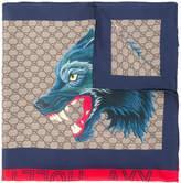 Gucci GG Supreme wolf scarf