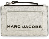 Marc Jacobs Logo Zip Metallic Leather Card Case