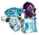 Catherine Malandrino Multistone Cluster Cocktail Ring