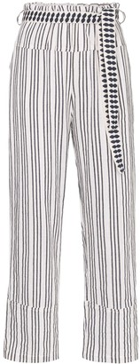 Lemlem Tigist Pie striped belted trousers