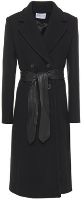 Claudie Pierlot Double-breasted Belted Wool And Cashmere-blend Felt Coat