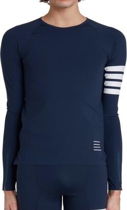 Thom Browne 4-Bar Long Sleeve Compression T-Shirt
