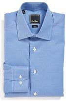 David Donahue Men's Trim Fit Texture Dress Shirt
