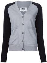 MM6 MAISON MARGIELA sleeves contrast cardigan