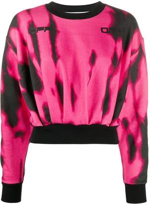 Off-White Tiger Dye Cropped Sweatshirt