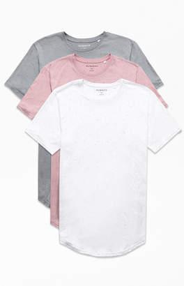 Proenza Schouler Basics Basics Three Pack Hardin Scallop T-Shirts
