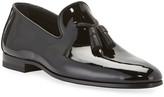 Magnanni Men's Patent Leather Formal Tassel Loafers