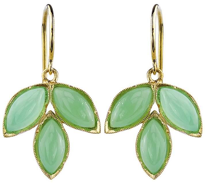 c322ebf1a2d72 Marquis Chrysoprase Leaf Earrings