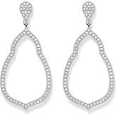 Thomas Sabo Fatima's Garden sterling silver and white pavé zirconia drop earrings
