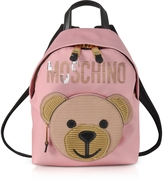 Moschino Pink Eco Leather Teddy Bear Backpack