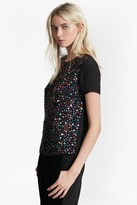 French Connection Rainbow Jewel Embellished Top
