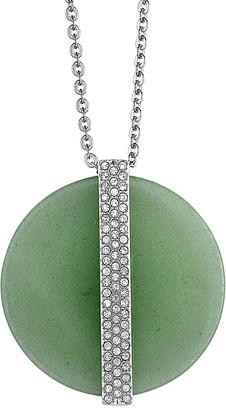 Swarovski Crystal Stainless Steel & Rhodium Necklace