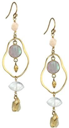 Chan Luu Mixed Moonstone Chandelier Earrings