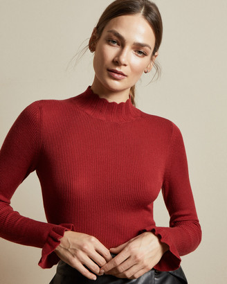 Ted Baker ALBAAI Frill neck ribbed jumper