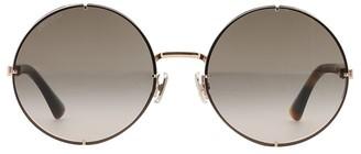 Jimmy Choo Lilo 58MM Round Glitter Sunglasses