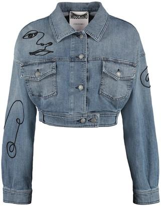 Moschino Cropped Denim Jacket