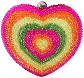 Manish Arora Rhinestone Embellished Heart Clutch